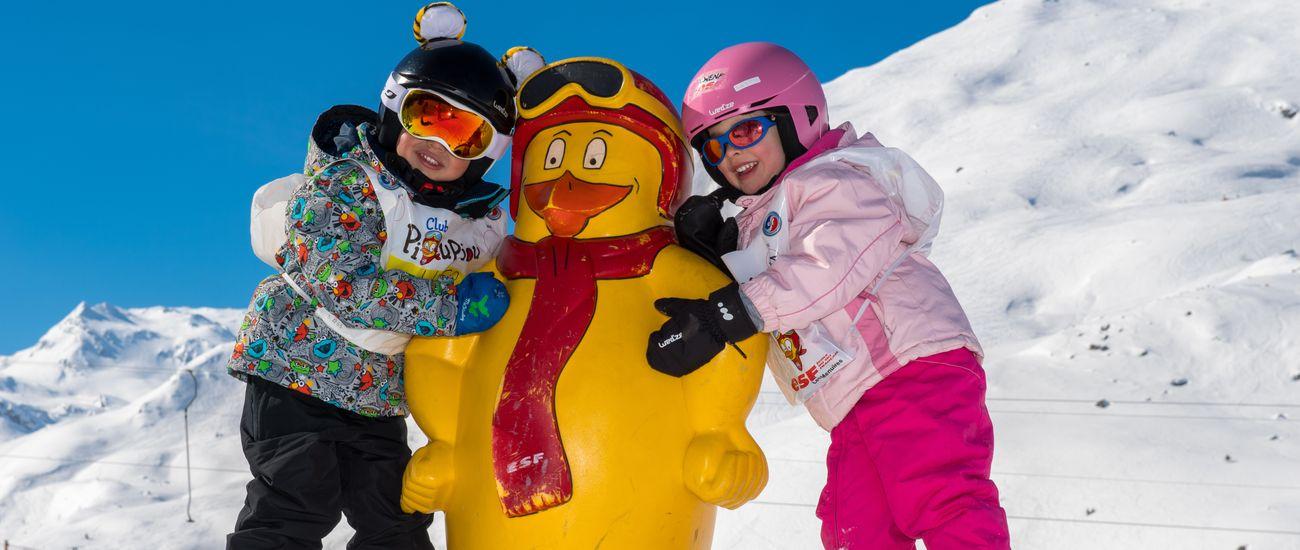 Cours de ski petits aux Menuires