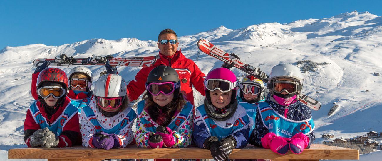 Cours de ski et snowboard à l'ESF Les Menuires