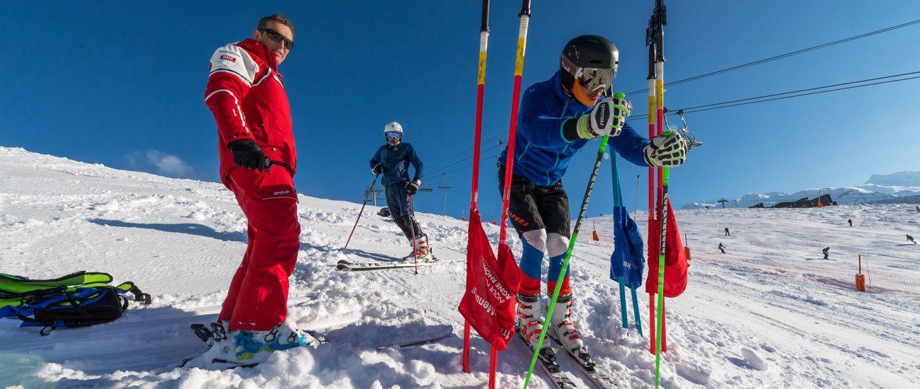 Compétition de ski aux Menuires