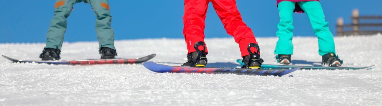 Snowboard sur les pistes de La Colmiane