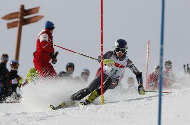 Élève en compétition de ski à La Colmiane