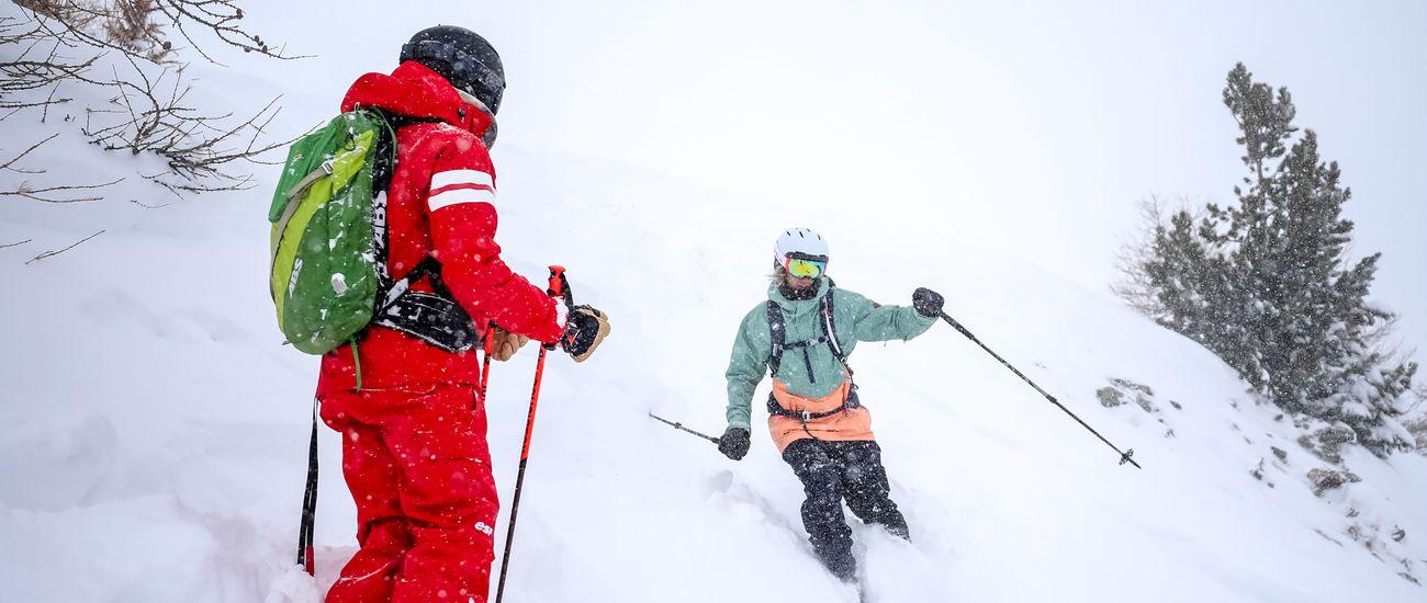 Stage ski hors-piste dans la poudreuse à Tignes