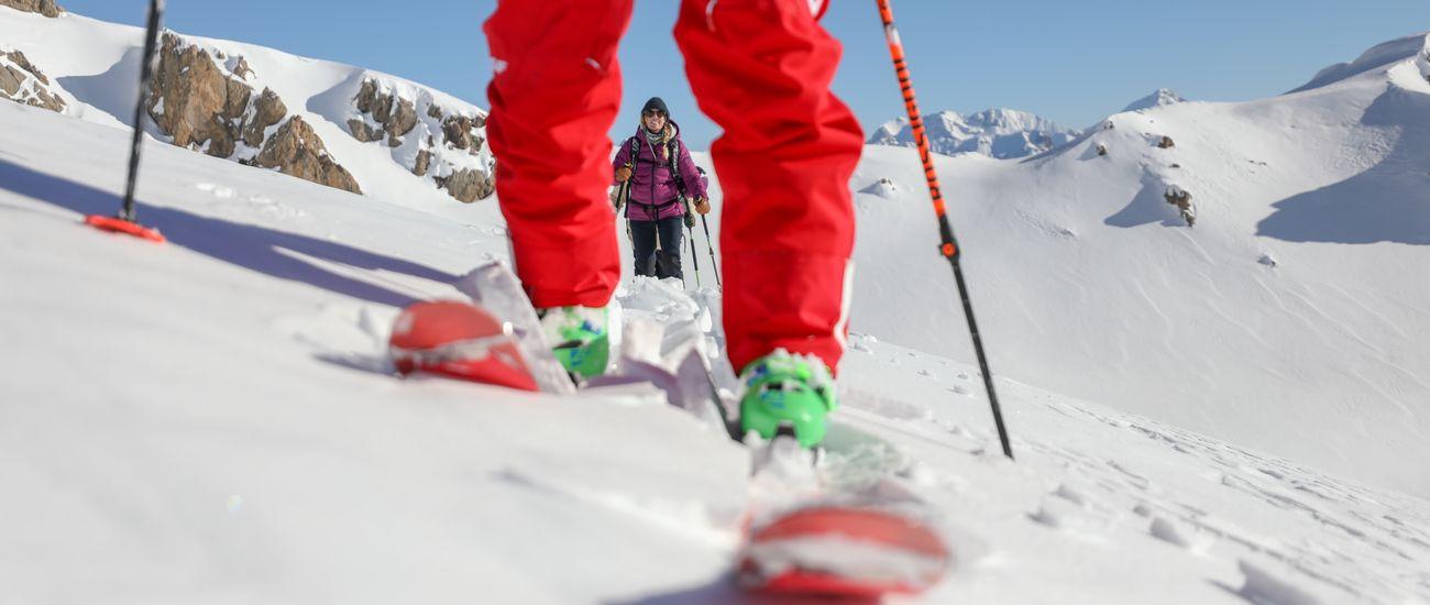 Zoom ski de randonnée Tignes Les Brévières