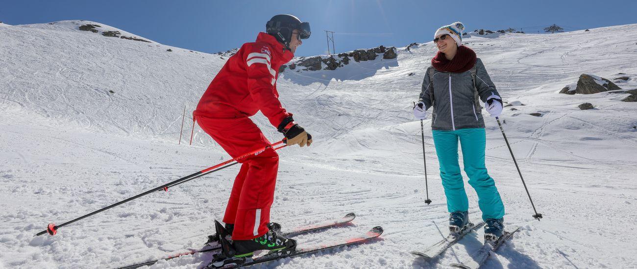 Leçons particulières de ski avec un moniteur individuel à Tignes Les Brévières