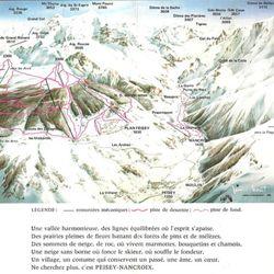 Plan des pistes 1972