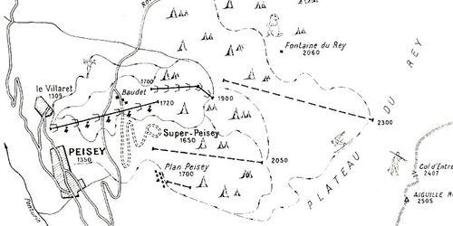 Plan des pistes en 1962