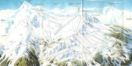 Plan des pistes en 1975